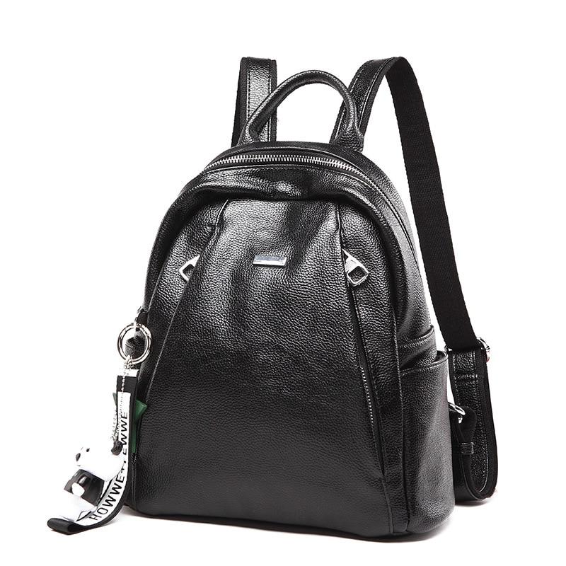 Star Stalker Solid Zipper Up Black Pu Backpack