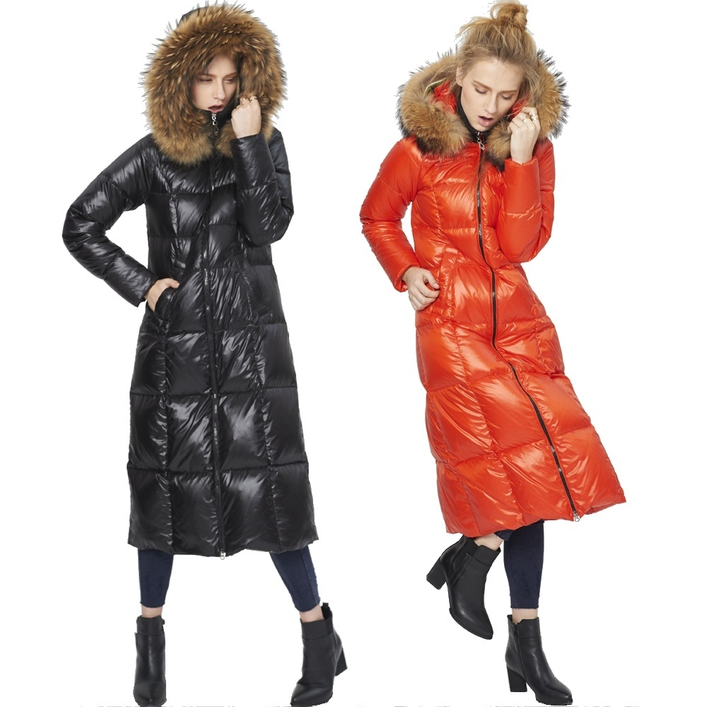 Winter new stylish light luxury scorpion big fur collar woman down jacket women's fashion long thicken warm down coat for women
