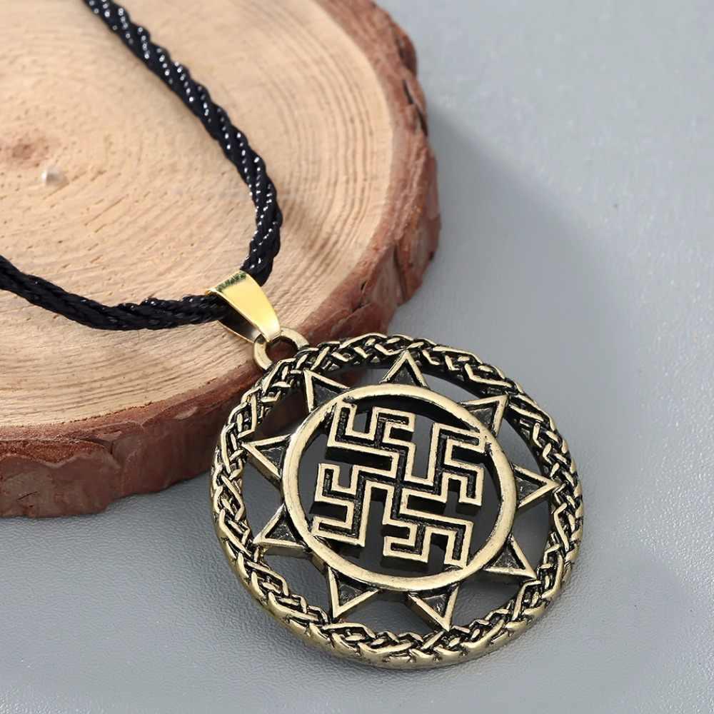 CHENGXUN Dukhobor Amulett Slawischen Starke Schützende Healing Anhänger Alte Slawischen Symbol Talisman Anhänger Schmuck Männer Halskette