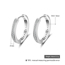 Classic Style Cubic Zirconia Paved Round Hoop Earrings Jewelry