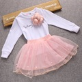 New Baby Girl Long Sleeve Tutu Dress 2 PCS Sets T-Shirts +Skirt Casual Kids Children Clothing Cute Party Dress for Girls Clothes