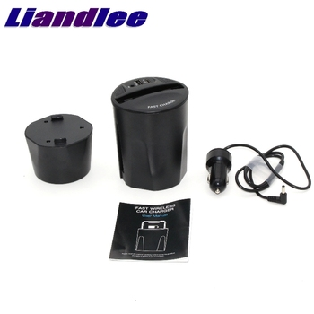 LiandLee Qi Car Wireless Phone Charging Cup Holder Style Fast Charger For Nissan Quest Elgrand SkyLine GT R34 Sylphy Tiida