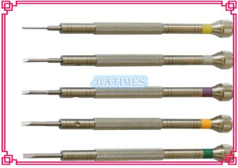 5pcs High Quality Stainless Precision Flat Screwdrivers for Watch Jewelry Repair
