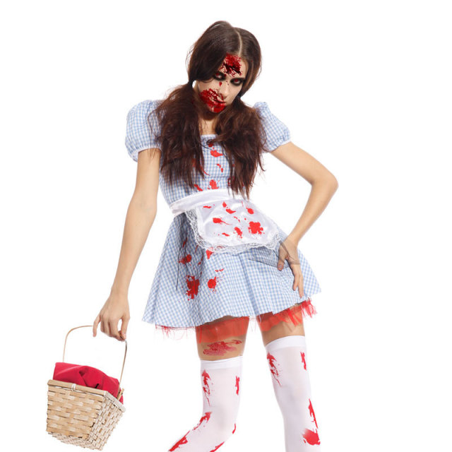 Disfraz Horror Zombie Dorothy para Mujer adulto Fancy Dress Costume