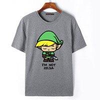 Flevans De Legende van Zelda Link T-Shirt Mannen Cartoon Print T-shirt Fashion Zomer Casual Korte Mouw Tees Tops