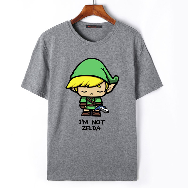 b70d574e8 Flevans The Legend of Zelda Link T-Shirt Men Cartoon Print T Shirt Fashion  Summer Casual Short Sleeve Tees Tops