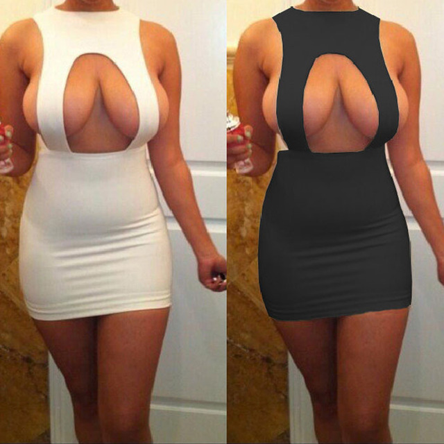 HXQ-1132 New Arrive sexy plus size club dresses 2014 women clothing 95%  Polyester+5% Spandex bodycon with backless White dress 3b7408b2f305