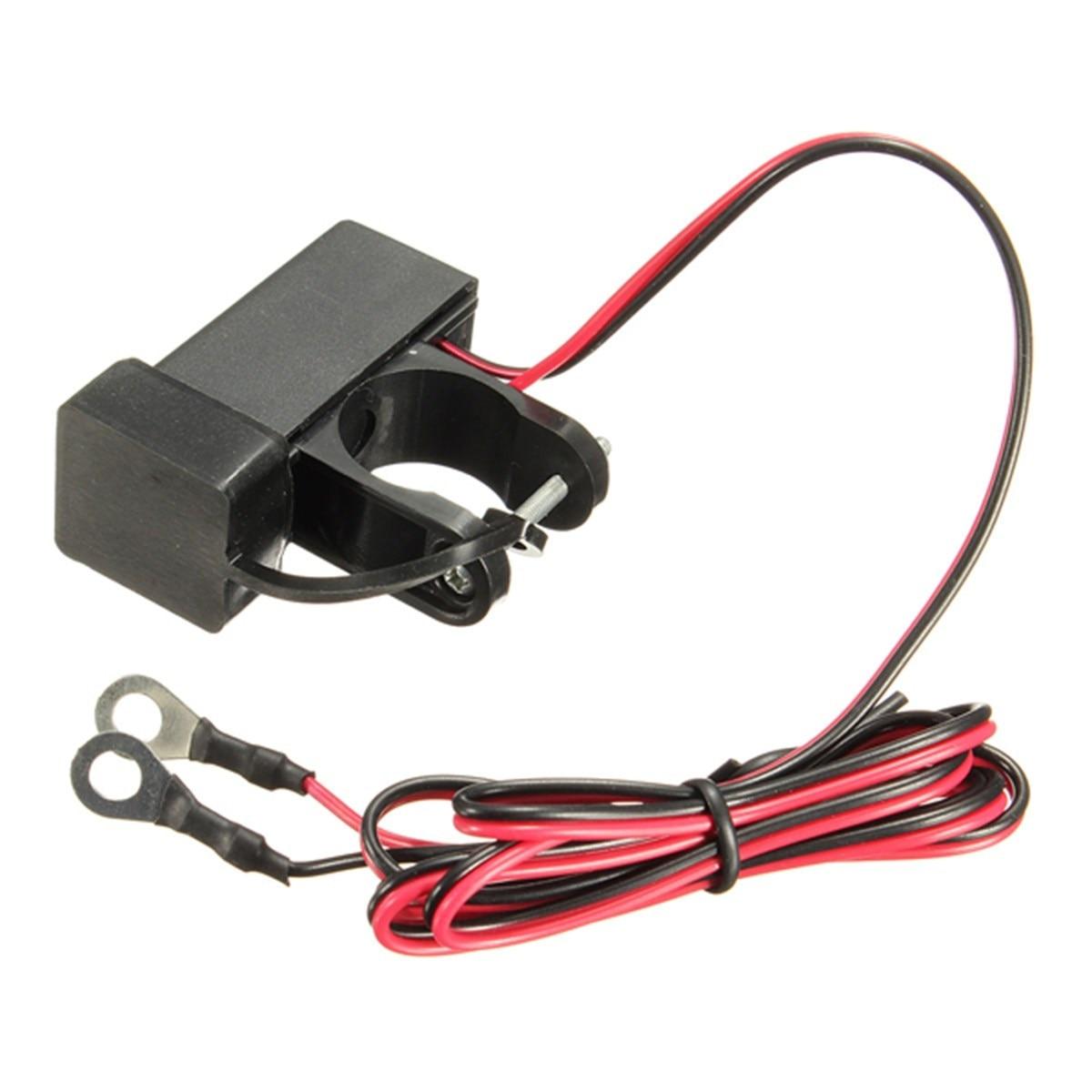 22mm 12V Waterproof Motorcycle Scooter HandleBar USB Charger GPS Phone Charger Power Socket For Honda/Suzuki/Kawasaki