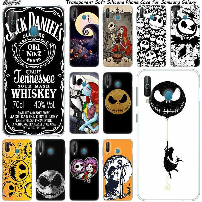 Hot jack skellington Silicone Phone Case For Samsung Galaxy A80 A70 A60 A50 A40 A40S A30 A20 A2CORE M40 Note 10 Plus 9 8 5 Cover