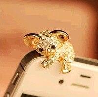 Koala Hot Sales Cute Dust Plug 3.5mm Headphones Gadgets Stubs For Iphone 6 5s For Samsung S7 xiaomi Universal Push-button phones