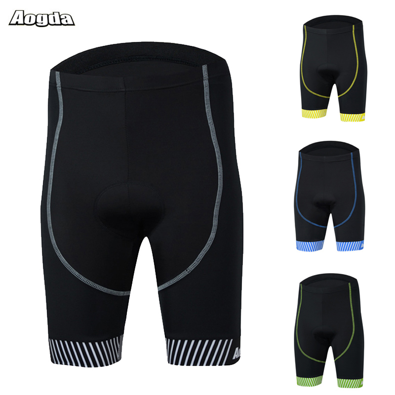 Aogda 4D Gel Padded Cycling Shorts Men Shockproof Downhill Bicycle Shorts Pro Team MTB Bike Shorts Bermuda Ciclismo
