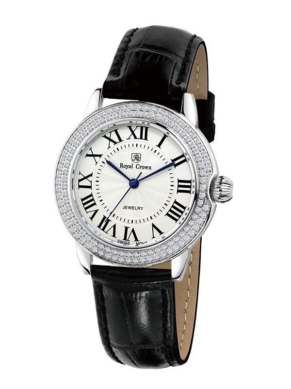 Royal Crown Jewelry Watch 6119L Italy brand Diamond Japan MIYOTA platinum Fashion Luxury Watch Diamond Lady WristWatches Dress