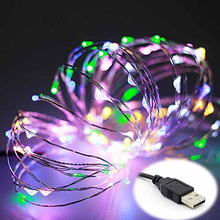 led string christmas light 5m 10m 5v usb powered outdoor warm white rgb copper wire christmas festival wedding party decoration - Usb Powered Christmas Lights