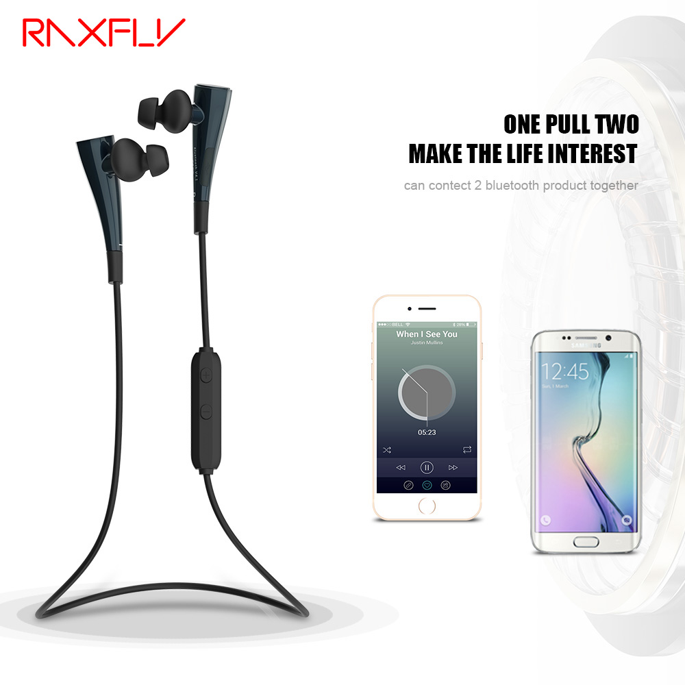 RAXFLY G11 Stereo Bluetooth Earphones Wireless Sports Earphone Magnetic Switch Earpiece With Mic For iPhone 6S 7 For Samsung wireless headphones v4 1 bluetooth earphone stealth sports headset ear hook earpiece with mic for iphone 7 7s samsung xiaomi