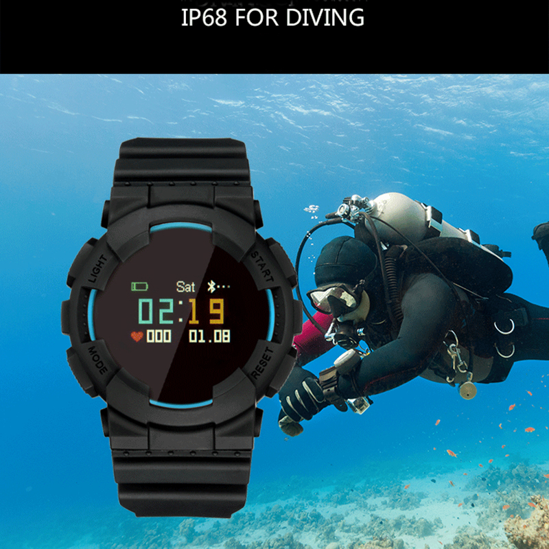 Newest Multi Sport Heart Rate Blood Pressure Smart Watch Male Female Smartwatch for Swimming Diving Running Climbing Samrt Clock