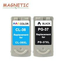 جديد خرطوشة حبر لكانون PG37 CL38 PG 37 CL 38 PIXMA MP140 MP190 MP210 MP220 MP420 IP1800 IP2600 MX300 MX310 طابعة