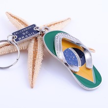 free shipping 100pcs/lot zinc alloy flip flop keychain keyring favors and gifts for party souvenirs supplies, customized gifts