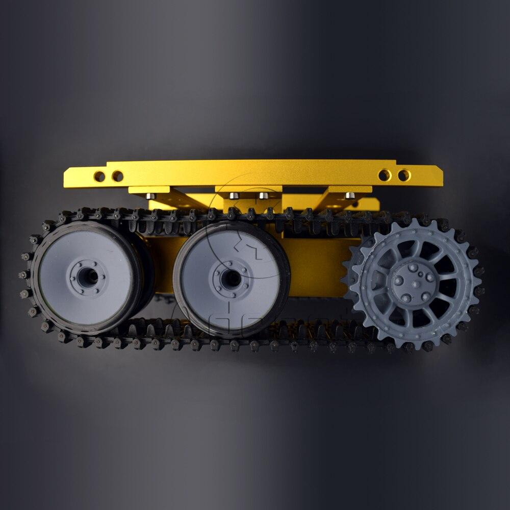 Adeept nouveau bricolage Intelligent réservoir châssis Intelligent en aluminium Robot voiture pour Arduino framboise Pi livraison gratuite casque bricolage bricolage kit - 4