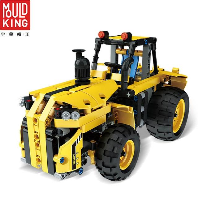Mould king rc blocks 13017 engineering team rc truck wagon car building blocks technic remote control lepin™ land