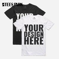 TEESPARK PERSONAL TAILOR Men Custom T Shirts DIY Round Collar Clothing Cotton T Shirt Customized Made