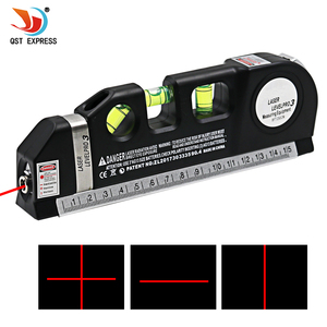 Fita de medição laser horizon 1pc, régua multiuso vertical alinhador