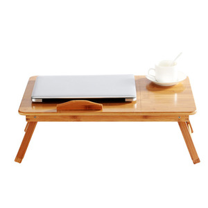 Image 3 - 조정 가능한 대나무 컴퓨터 스탠드 노트북 책상 노트북 책상 노트북 테이블 침대 소파 침대 트레이 피크닉 테이블 학습 테이블