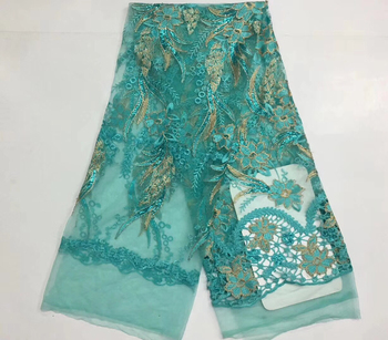 African Lace Fabric Sequins Embroidered Nigerian Lace Fabric Bride High Quality French Lace Lace Fabrics Women's  VS-D2331