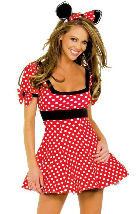 Sexy Christmas Minne Mouse Wave Point costumes women Outfit Ear Girl costume fancy love live cosplay anime fancy dress  adults