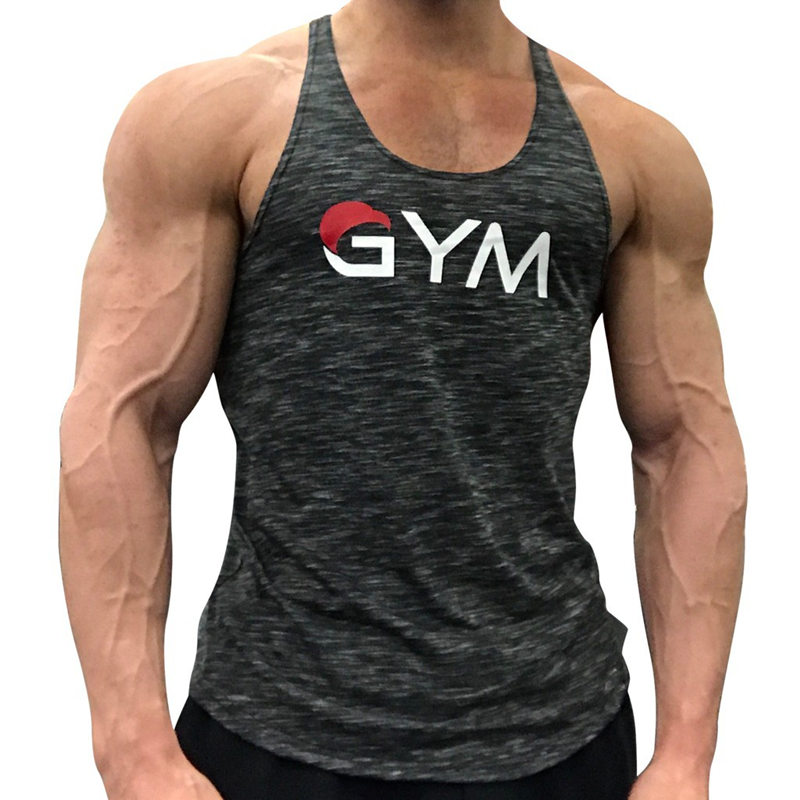 Mens Bodybuilding   Tank     tops   2018 New sleeveless shirt Man Gyms Fitness Singlet Stringers Breathable Undershirt clothing