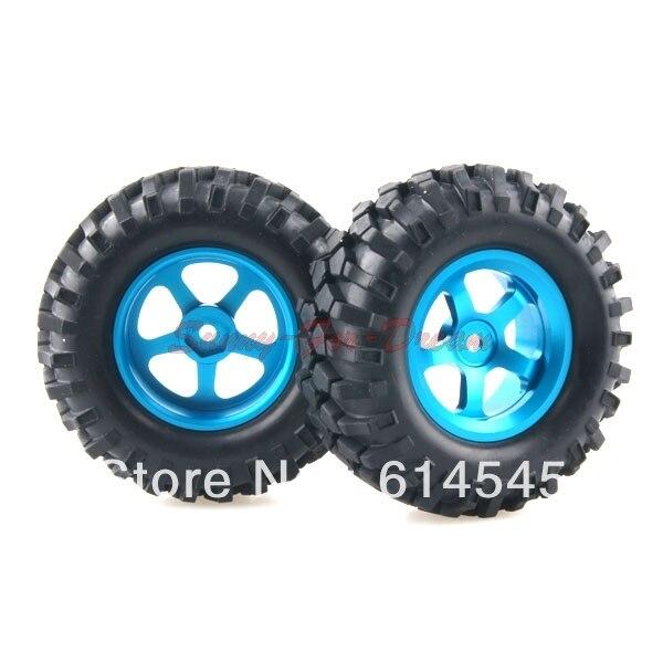 4PCS RC 1/10 Car Climbing Rock Crawler Tires Tyre & Metal Wheel Rim 105B-7006 4pcs 2 2 rubber tyre tires ax 3021 for rc 1 10 rc off road climbing rock crawler truck