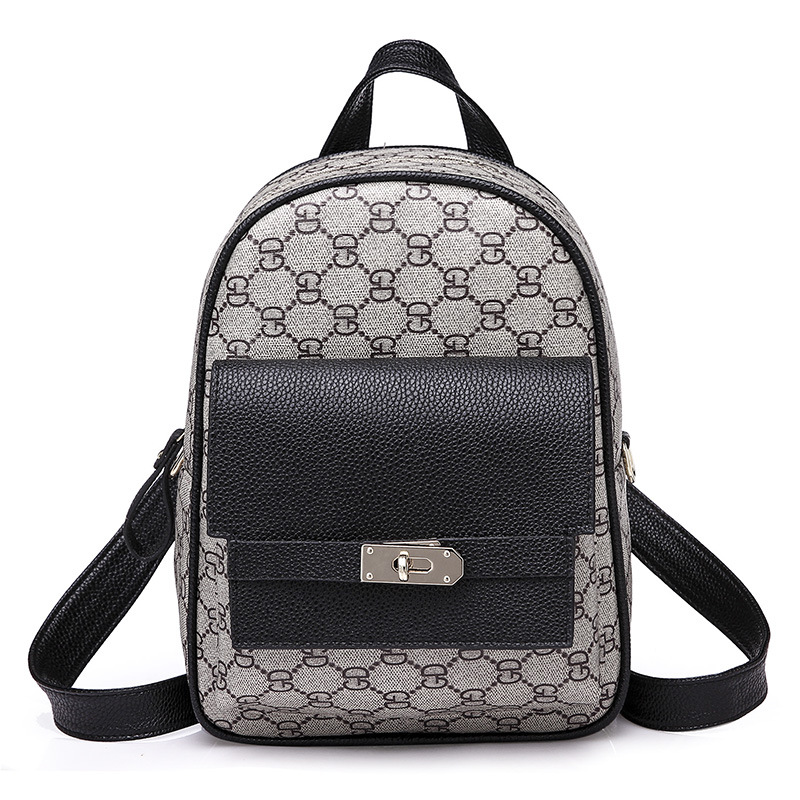 New style Vintage shoulder bag. European and American fashion backpacks. small and simple personality all Match Panelled bag