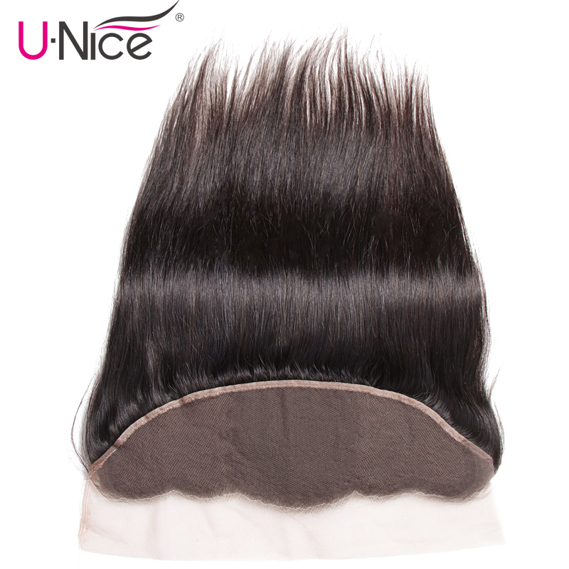 UNICE HAIR Lace Closure Lace-Frontal Pre-Plucked Brazilian 1piece Straight 13--X4-Free-Part