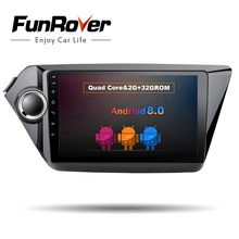 Funrover 9″ Android 8.0 2 din Car multimedia DVD player For Kia Rio K2 2011 2012 navigation Car radio tape recorder video player