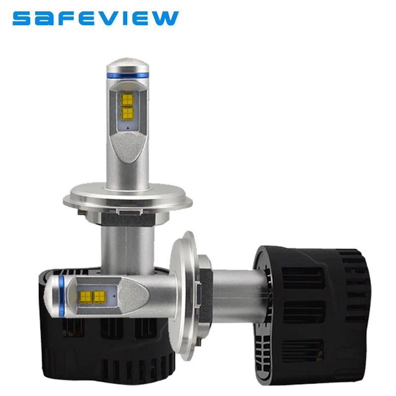 Safeview Высокое качество H4 H7 Led H11 H8 H9 Автомобильные фары лампы 55 Вт 10400LM 6000 К Ремонт Заменить освещение для автомобилей лампы - 2