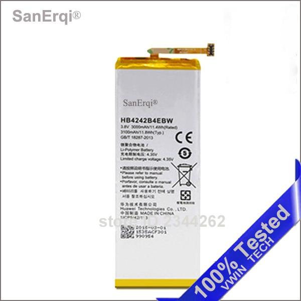 SanErqi Nouveau Testé HB4242B4EBW Batterie Pour Huawei Honneur 6 batterie 3000 mAh Batterie Bateria