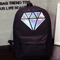 Canvas diamond backpack for women school bags holographic silver diamond solid teenage girls female men laptop sale brand Mochil