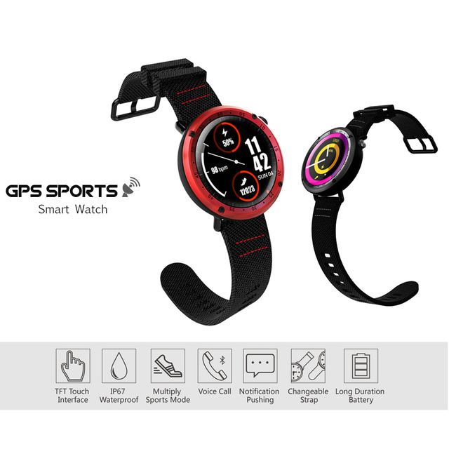 SENBONO L19 GPS Sport smart watch support fitness tracker Compass Height heart rate IP67 waterproof SMS Pushing 4