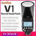 Godox V1 с AK-R1 круглой головкой вспышка V1C V1N V1S TTL HSS 1/8000s 2600mAh литиевая батарея для камеры Sony Canon Nikon