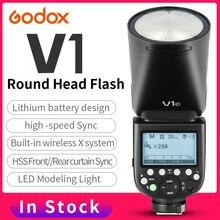 Godox V1 With AK-R1 Round Head Speedlite Flash V1C V1N V1S TTL HSS 1/8000s 2600mAh Lithium Battery for Sony Canon Nikon Camera цены онлайн