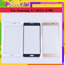 10Pcs/lot For Samsung Galaxy A7 2015 A700 A7000 A700H A700F A700FD Touch Screen Front Panel Glass Lens Outer LCD