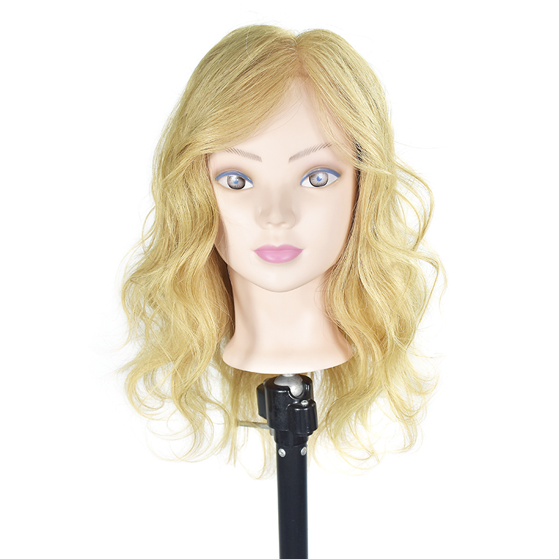 Mannequin Head 100% Human Hair Hairdressing Hair Training Head Mannequin Hair Natural Hairdresser Manikin Head With Human Hair hot sale 8 male mannequin head 100% virgin human hair hairdressing training head hairstyles manikin head dolls with free clamp