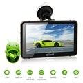 """CARCHET Navegador GPS 7 """"Android 2.4G WIFI GPS 1080 P HD DVR Cam Traço LED Touchscreen FM 800*480 Construído em 512 MB 8G Mapa América"""