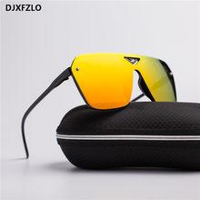 Óculos de sol masculino esportivo de plástico, novo óculos de design retrô, resistente à água, 2020