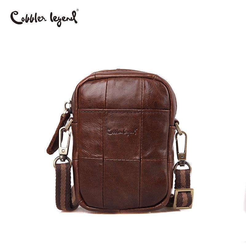 Cobbler Legend Fashion Brand 2018 Mini Men's Vintage Genuine Leather Messenger Bag Men Cowhide Shoulder Crossbody Bags Male