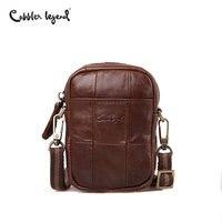 Cobbler Legend Fashion Brand 2018 Mini Men S Vintage Genuine Leather Messenger Bag Men Cowhide Shoulder