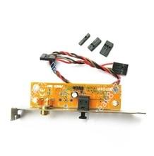 Asus gigabyte msi 마더 보드 용 spdif 광 및 rca 출력 플레이트 케이블 브래킷