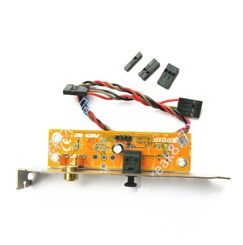 Optical /& RCA Out Plate Cable Bracket For ASUS//MSI//Gigabyte Motherboard Replace