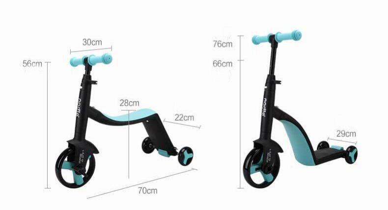 Enfants Scooter Tricycle bébé 3 en 1 Balance vélo tour sur jouets - 5