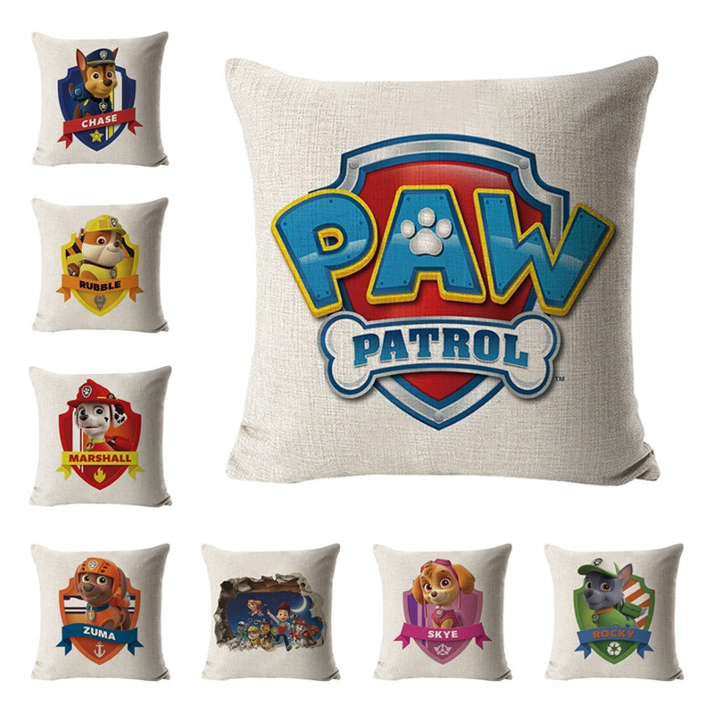 Paw patrol hug pillowcase patrulha canina brinquedo sofa cushion hug pillowcase paw patrol toys set action figure birthday gifts in Action Toy Figures from Toys Hobbies