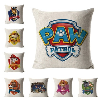 Paw patrol hug pillowcase patrulha canina brinquedo sofa cushion paw toys set action figure birthday gifts